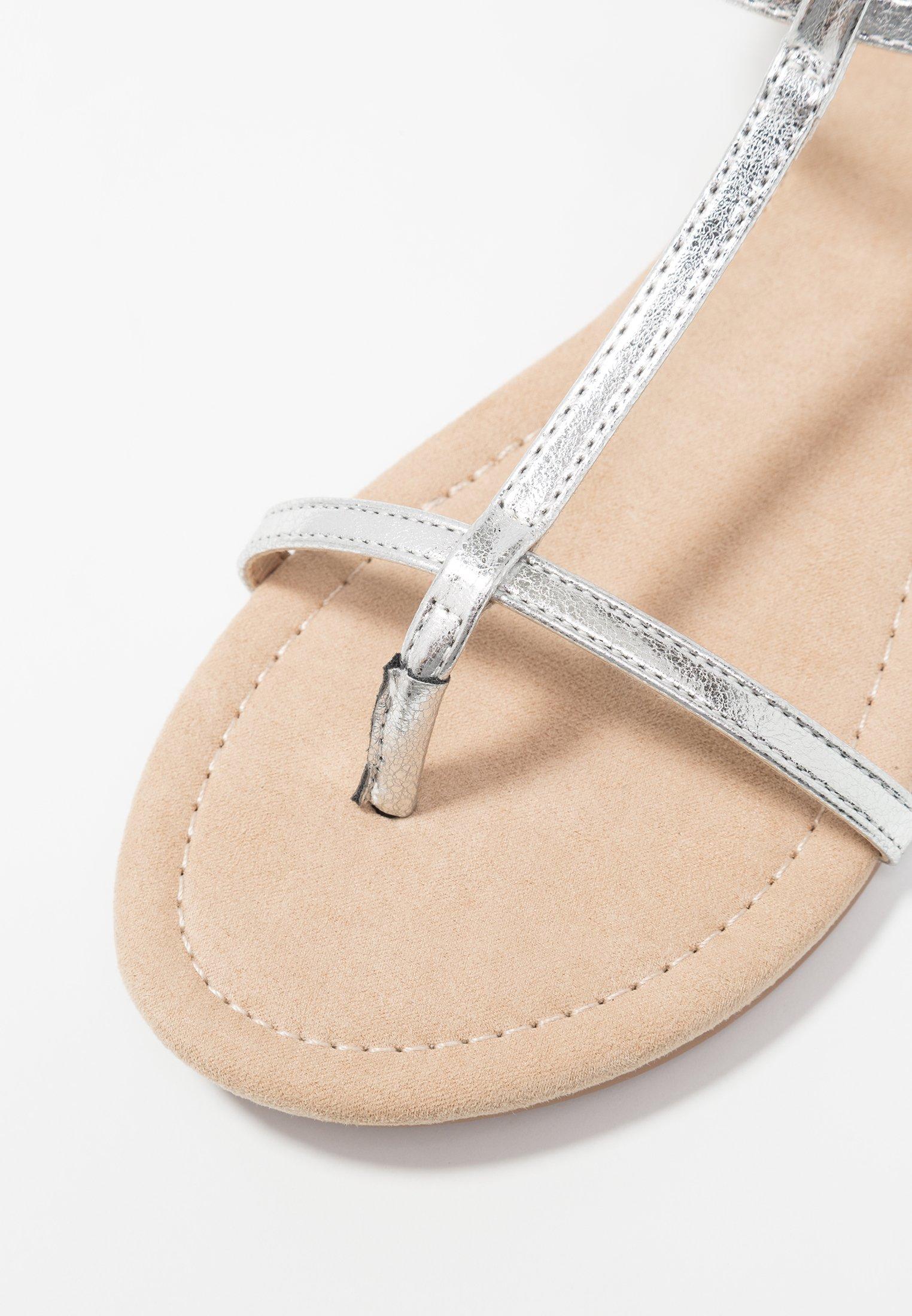 Anna Field Flip Flops - silver