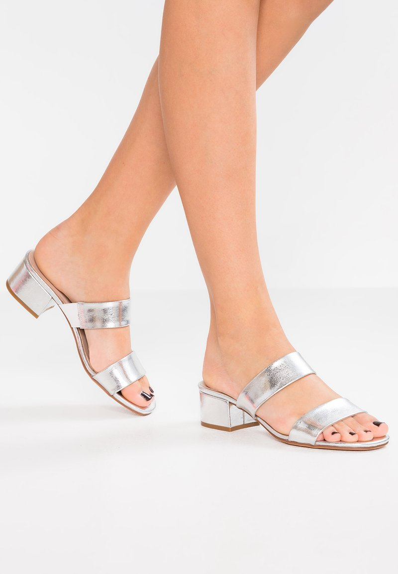 Anna Field - Heeled mules - silver