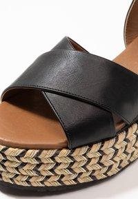 Anna Field - Korkeakorkoiset sandaalit - black - 2