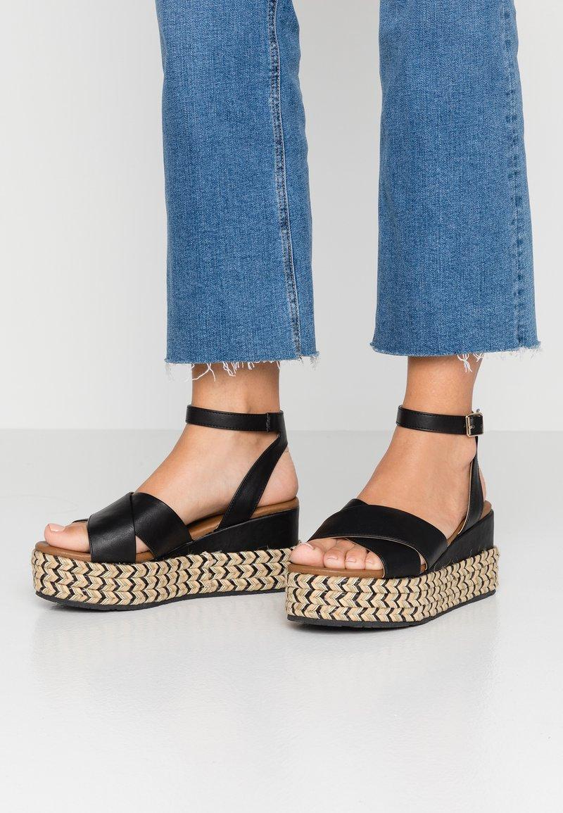 Anna Field - Korkeakorkoiset sandaalit - black