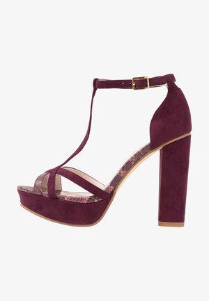 Sandály na vysokém podpatku - bordeaux