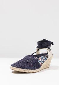 Anna Field - Wedge sandals - dark blue - 4