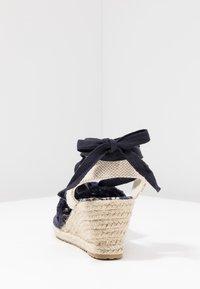 Anna Field - Wedge sandals - dark blue - 5