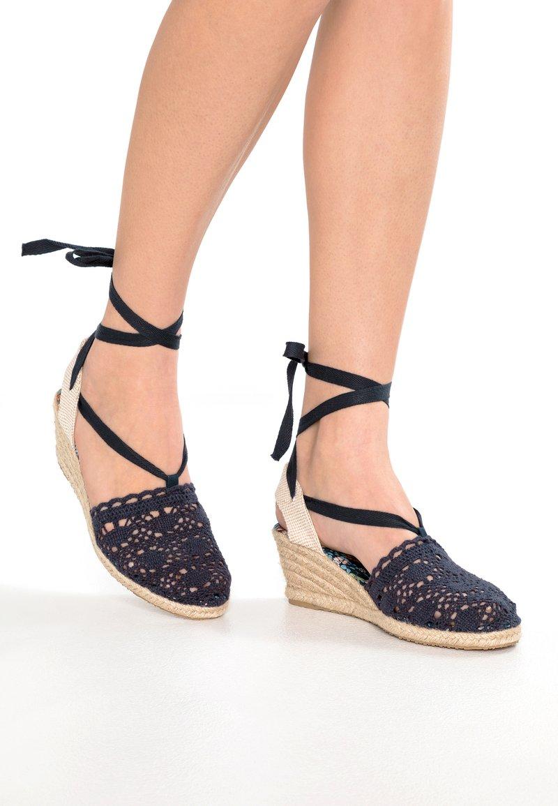 Anna Field - Wedge sandals - dark blue
