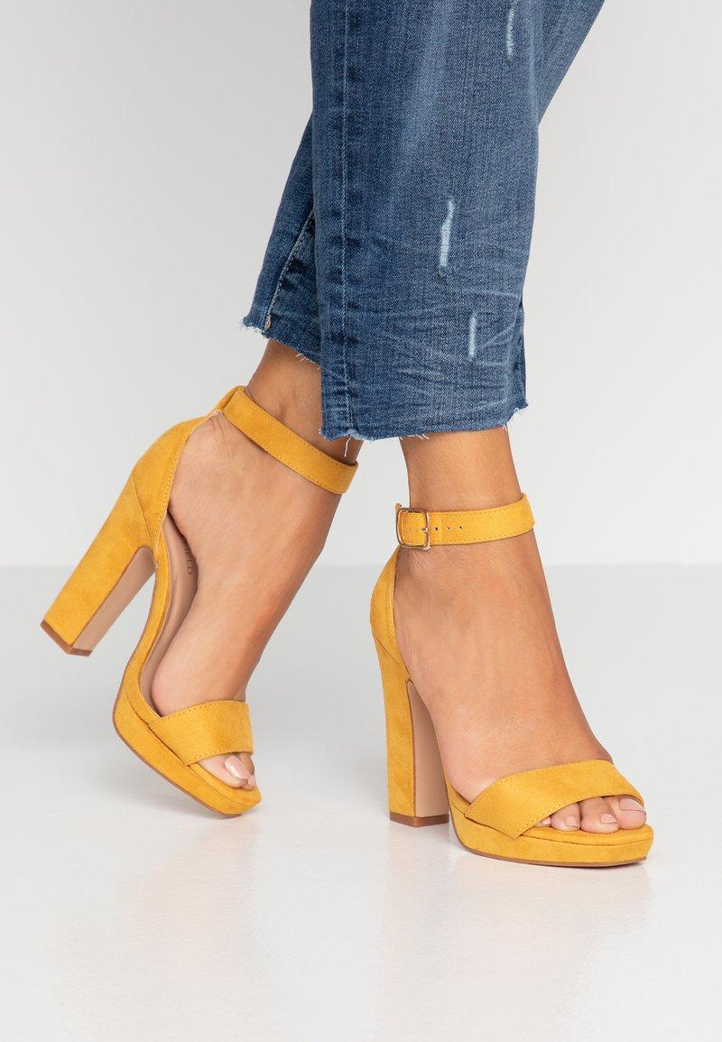 Anna Field - Sandály na vysokém podpatku - yellow