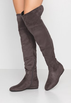 Wedge boots - grey
