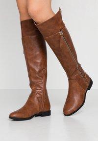 Anna Field - Vysoká obuv - cognac - 0