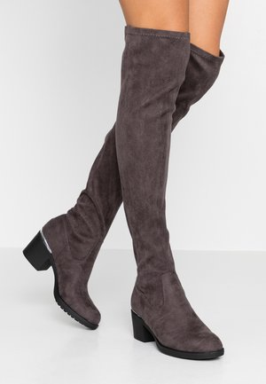 Kozačky nad kolena - grey