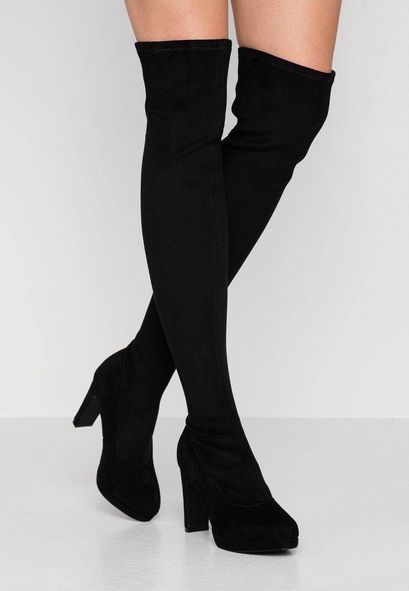 Anna Field - Kozačky na vysokém podpatku - black