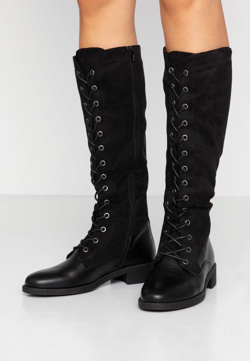 Anna Field - Šněrovací vysoké boty - black