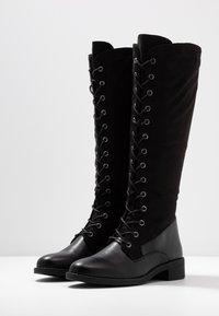 Anna Field - Šněrovací vysoké boty - black - 4