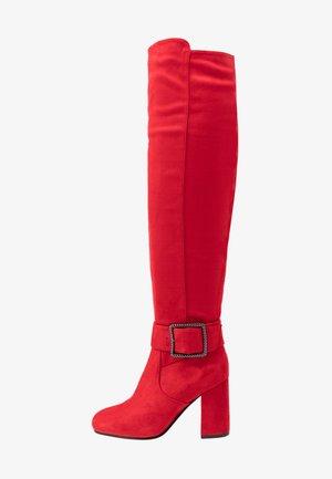 Overknee laarzen - red