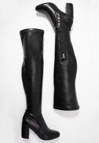 Anna Field - Kozačky nad kolena - black - 3