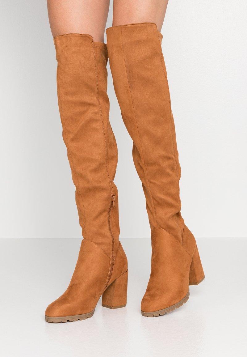 Anna Field - Boots med høye hæler - cognac