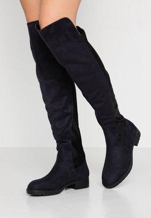 Kozačky nad kolena - dark blue