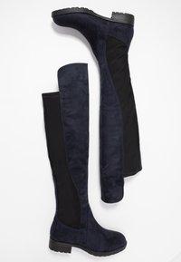 Anna Field - Kozačky nad kolena - dark blue - 3