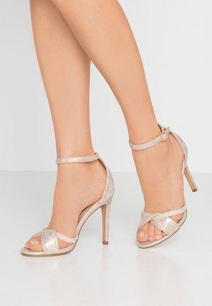 High Heel Sandalette - gold