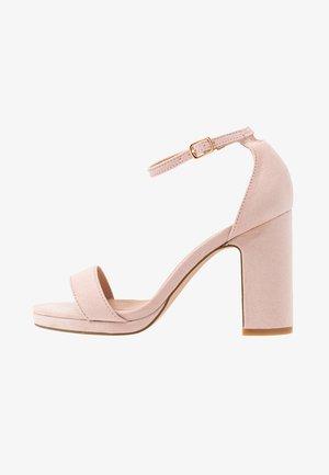 Højhælede sandaletter / Højhælede sandaler - rose