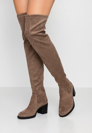 Over-the-knee boots - taupe