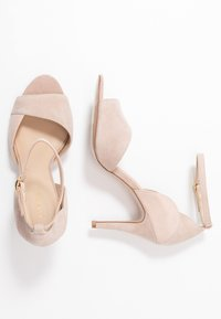 Anna Field - LEATHER HEELED SANDALS - Sandały na obcasie - nude - 3