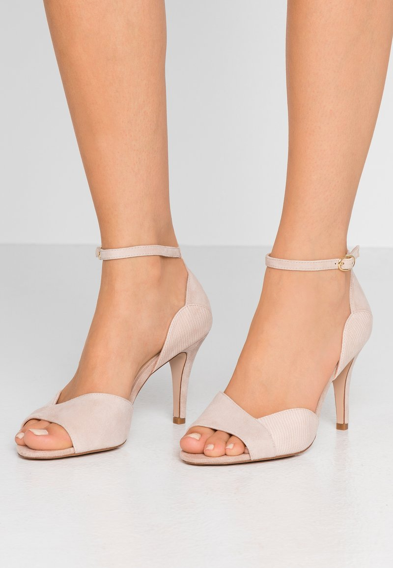 Anna Field - LEATHER HEELED SANDALS - Sandaletter - nude