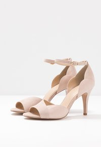 Anna Field - LEATHER HEELED SANDALS - Sandały na obcasie - nude - 4