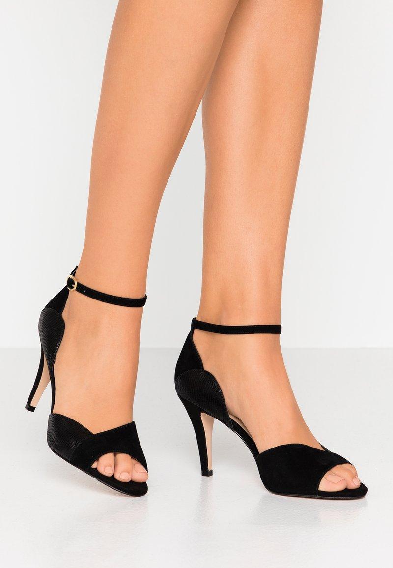 Anna Field - LEATHER HEELED SANDALS - High heeled sandals - black