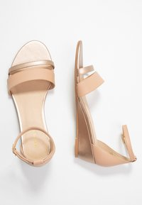 Anna Field - LEATHER WEDGES - Wedge sandals - nude - 3