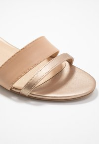 Anna Field - LEATHER WEDGES - Wedge sandals - nude - 2
