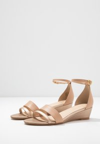 Anna Field - LEATHER WEDGES - Wedge sandals - nude - 4
