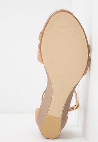 Anna Field - LEATHER WEDGES - Wedge sandals - nude - 6