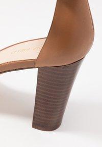 Anna Field - LEATHER HEELED SANDALS - High Heel Sandalette - cognac - 2