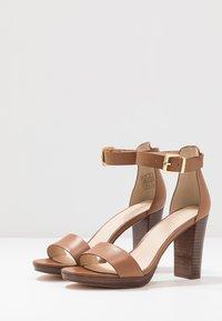 Anna Field - LEATHER HEELED SANDALS - High Heel Sandalette - cognac - 4