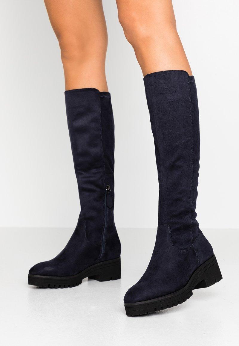 Anna Field - Platform boots - dark blue