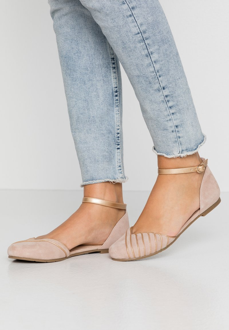 Anna Field - LEATHER BALLERINAS - Ballerina med reim - beige
