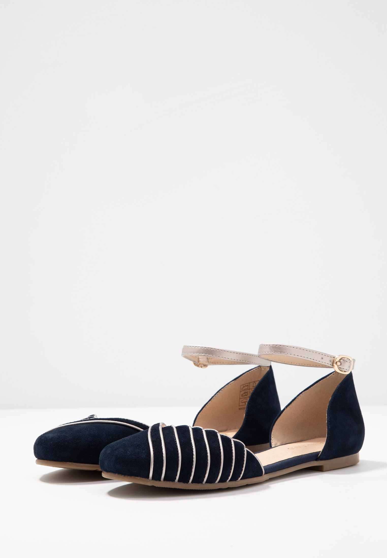 Anna Field Leather Ballerinas - Ballerinasko M/ Rem Dark Blue