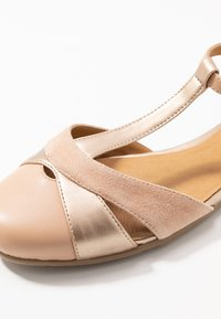 Anna Field - LEATHER BALLERINAS - Ankle strap ballet pumps - nude - 2