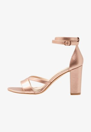 HEELED SANDALS - Sandály - rose gold