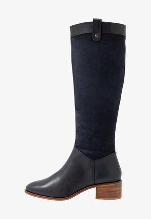 LEATHER BOOTS - Vysoká obuv - dark blue