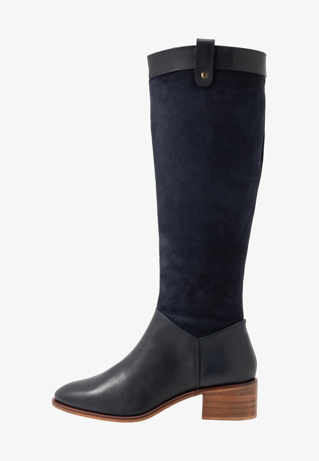 LEATHER BOOTS - Boots - dark blue