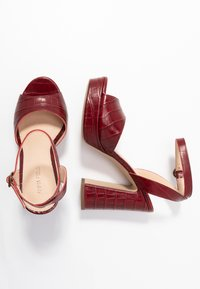 Anna Field - LEATHER HEELED SANDALS - High heeled sandals - bordeaux - 3