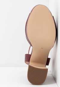 Anna Field - LEATHER HEELED SANDALS - High heeled sandals - bordeaux - 6