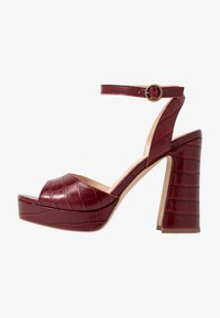 Anna Field - LEATHER HEELED SANDALS - High heeled sandals - bordeaux - 1