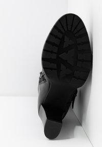 Anna Field - LEATHER BOOTS - Korolliset saappaat - black - 6