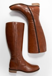 Anna Field - LEATHER BOOTS - Kozaki - cognac - 3