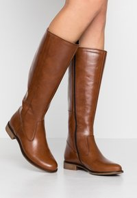 Anna Field - LEATHER BOOTS - Kozaki - cognac - 0
