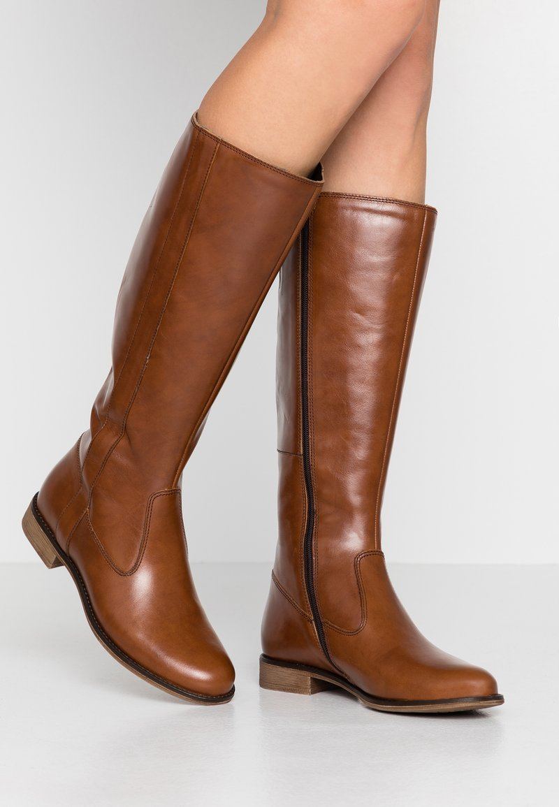 Anna Field - LEATHER BOOTS - Boots - cognac