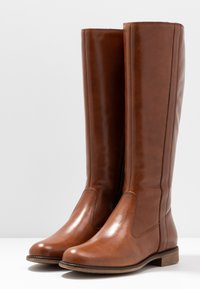 Anna Field - LEATHER BOOTS - Kozaki - cognac - 4