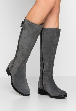 LEATHER BOOTS - Boots - grey