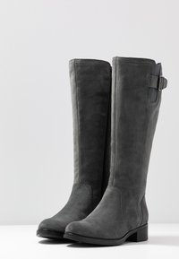 Anna Field - LEATHER BOOTS - Boots - grey - 4